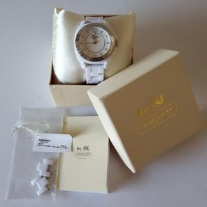 COACH Watch NEW White Acrylic